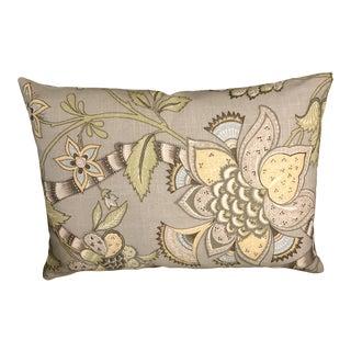 """Custom Pindler and Pindler """"Burgess Dove"""" Floral Lumbar Pillow For Sale"""