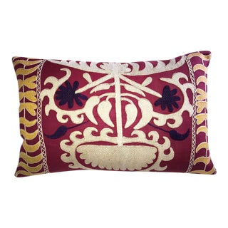 Vintage Embroidered Samarkand Accent Pillow