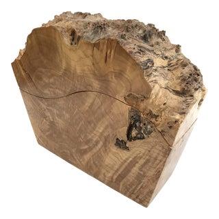 Hand Crafted Big Leaf Oregon Maple Burl Lidded Box
