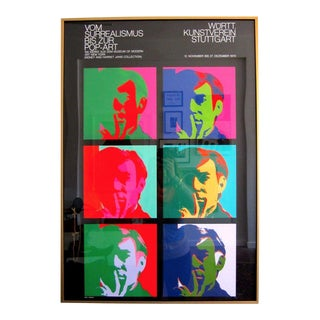 Signed Andy Warhol 1970 Exhibition Poster