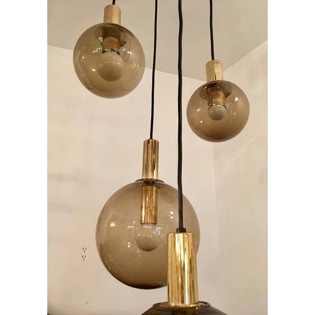 RAAK 1970s Raak Dutch Smoked Glass Globe Ceiling Light For Sale - Image 4 of 10