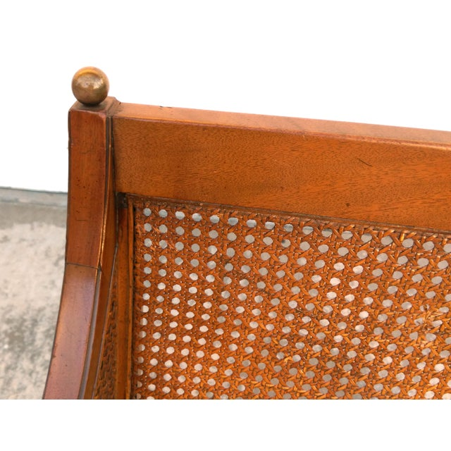 Vintage Mid Century Cane Back Lounge Chair - Image 8 of 8