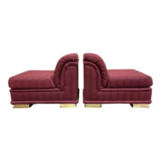Henredon Art Deco Revival Slipper Chairs - A Pair