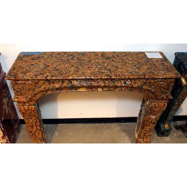 Danny Alessandro French Louis XIV Breche D'alep Marble Mantel For Sale - Image 4 of 6
