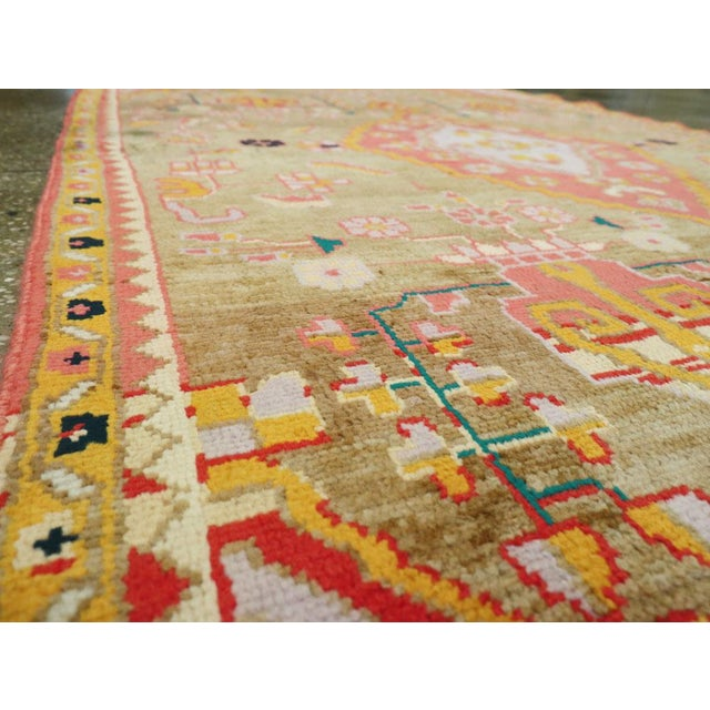 """Mid 20th Century Vintage Persian Mahal Rug – Size: 3' 11"""" X 6' 8"""" For Sale - Image 5 of 10"""