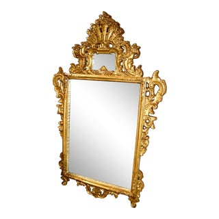 1990s Ornate Burnished Gold Wall Mirror For Sale