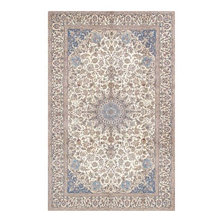 "Pasargad Home Nain Silk & Wool Area Rug - 7' 3"" X 11'11"" For Sale"