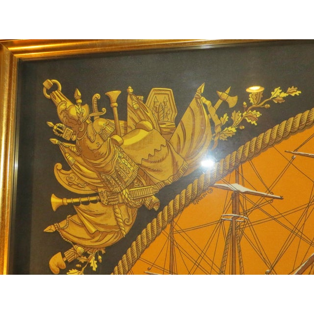 Hermes French Vintage Scarf For Sale In San Francisco - Image 6 of 11