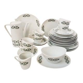 Mid Century Modern Seltmann Weiden Monica Bavarian Porcelain Dinnerware For Sale