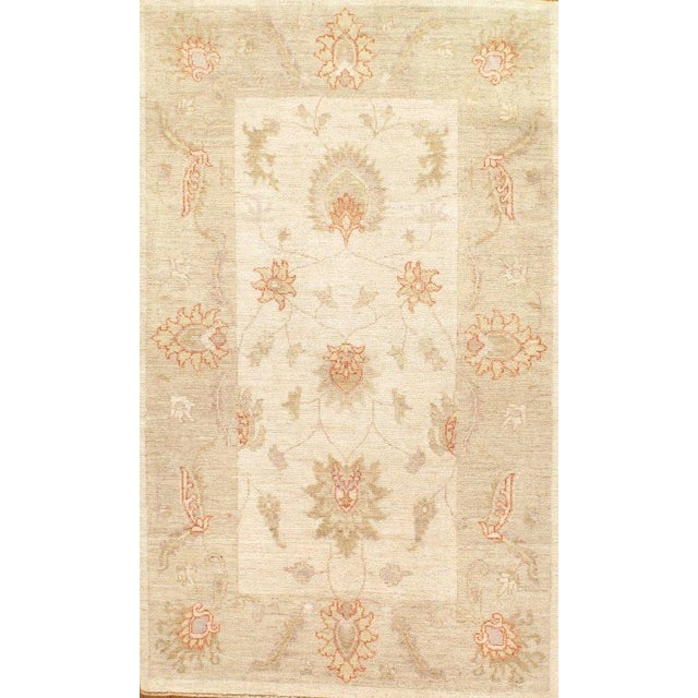 """Traditional Pasargad Ny Genuine Farahan Design Lamb's Wool Rug - 3'1"""" X 5'2"""" For Sale - Image 3 of 3"""