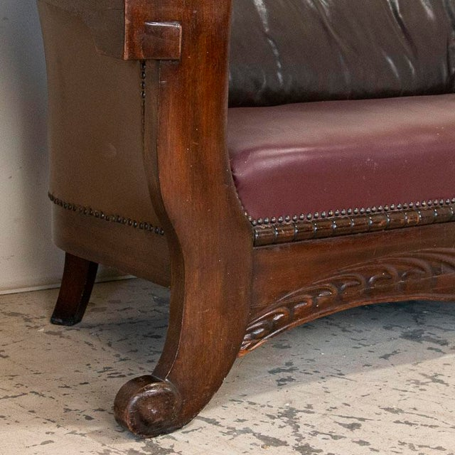 Vintage Leather Sofa and Arm Chairs - Set of 3 For Sale - Image 10 of 11