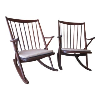 Frank Reenskaug for Bramin Mobler Danish Rocking Chairs - A Pair