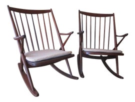 Image of Danish Modern Rocking Chairs