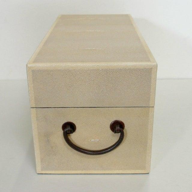 Italian Ivory Shagreen Wood Box by Fabio Ltd For Sale - Image 3 of 6