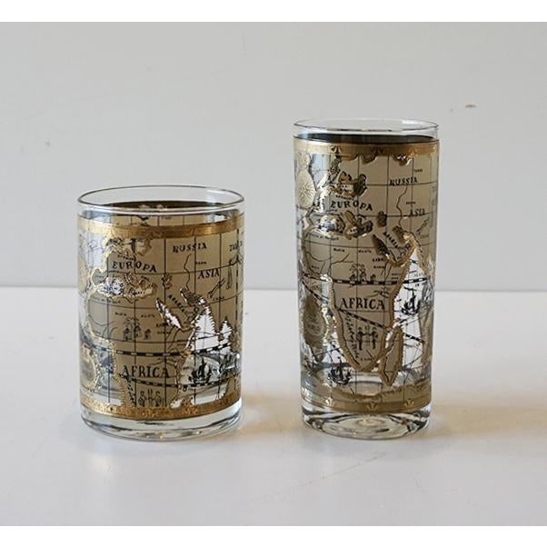 Cera old world map glasses set of 16 chairish cera old world map glasses set of 16 image 4 of 7 gumiabroncs Image collections