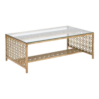 Modern Gilt Cocktail Table For Sale