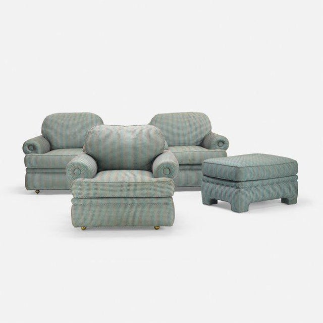 Contemporary A. Rudin Vintage Lounge Chairs & Matching Ottoman - Set of 4, Circa 1960 For Sale - Image 3 of 3