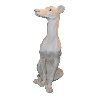 Vintage Ceramic Life Size Greyhound Dog For Sale