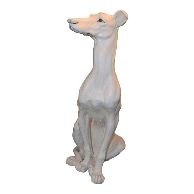 Vintage Ceramic Life Size Greyhound Dog For Sale