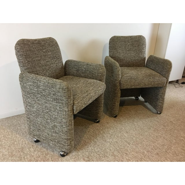 Vintage Tweed Accent Chairs - A Pair - Image 4 of 9