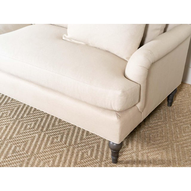 2020s EJ Victor Upholstered Linen Cleary Sofa For Sale - Image 5 of 6