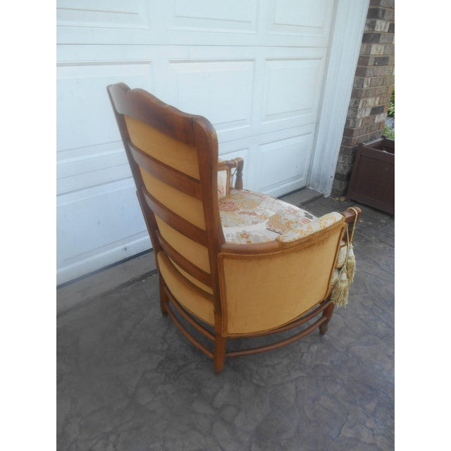 1950s Vintage Heywood Wakefield Era Club / Fireside Arm Chair For Sale - Image 5 of 10