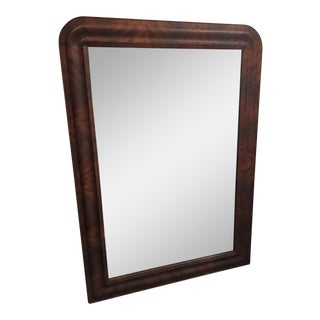 Antique Tiger-Striped Mahogany Mirror For Sale