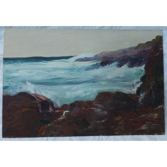 h.l. Musgrave Mid-Century Atlantic Ocean Painting - Image 2 of 7