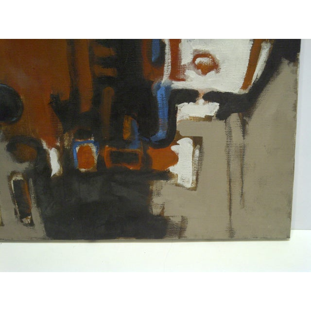 20th Century Contemporary Original Framed Painting on Canvas,