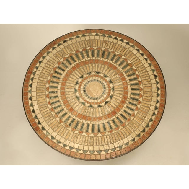 Vintage French Mosaic Garden Table, Seats Up to Nine People For Sale - Image 9 of 9