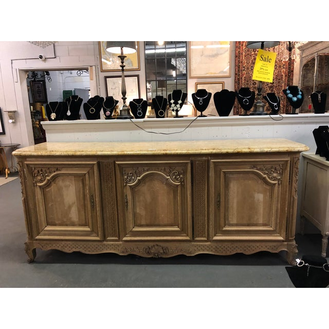 Marble French Regency Marble Top Enfilade For Sale - Image 7 of 7