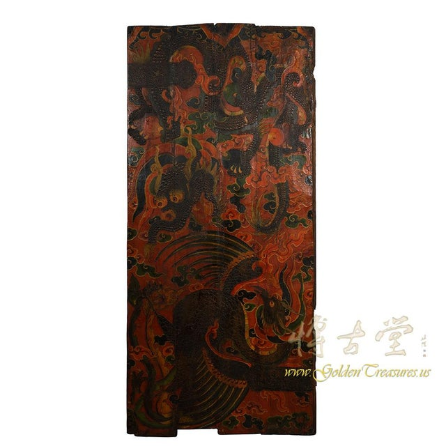 Antique Tibetan Painted Door Panel For Sale - Image 9 of 9