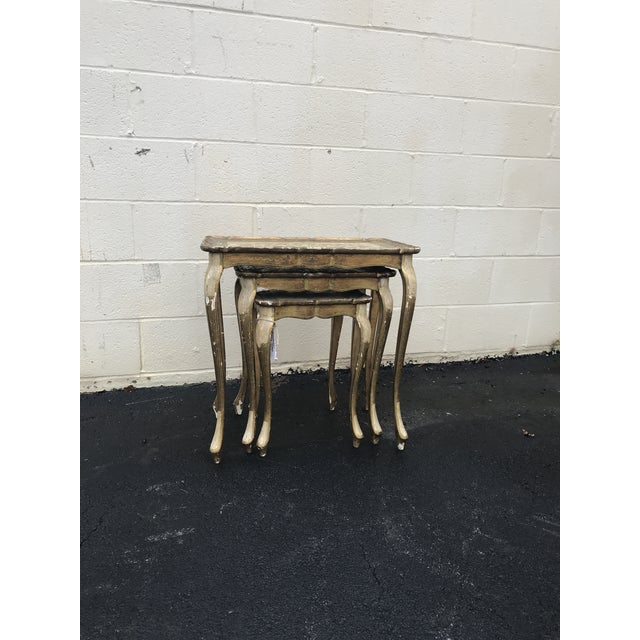 Gold Guilded Nesting Tables - Made in Italy - Image 3 of 10