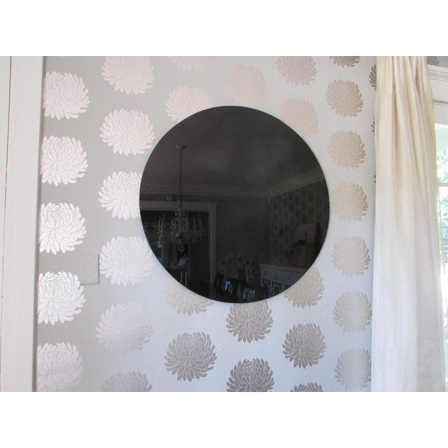 Modern Black Glass Mirror - Image 2 of 4