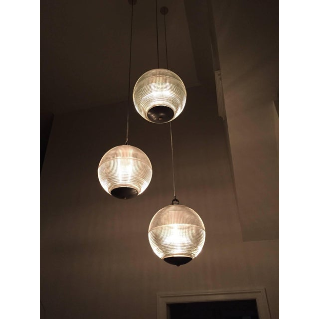 Mid-Century Modern Large Holophane Glass Sphere Globe Light For Sale - Image 3 of 7