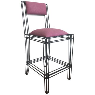 Black Power Coated Wrought Iron Bar or Counter Stools by Casamidy For Sale