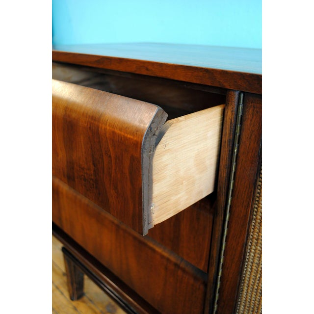 Mid Century Modern Walnut 9 Drawer Dresser - Image 5 of 10
