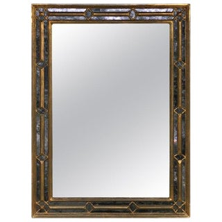 Neoclassical Giltwood Églomisé Mirror For Sale