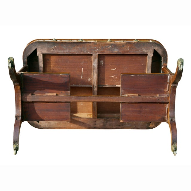 Regency Mahogany Writing Table For Sale - Image 12 of 13