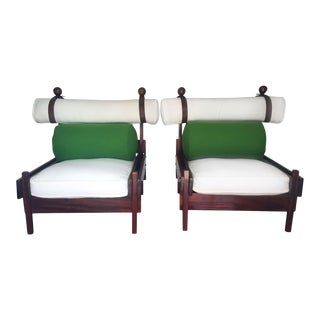 Tonico Rosewood Chairs by Sergio Rodrigues - Pair For Sale