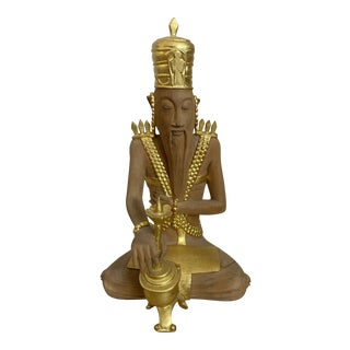 Balinese Hermit With Natural Scented Wood Sculpture For Sale