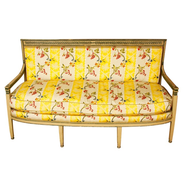 Late 19th Century Directoire Settee For Sale - Image 4 of 4