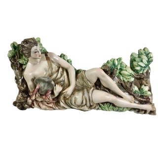 The God Mercury Ceramic Wall Hanging, Italy For Sale