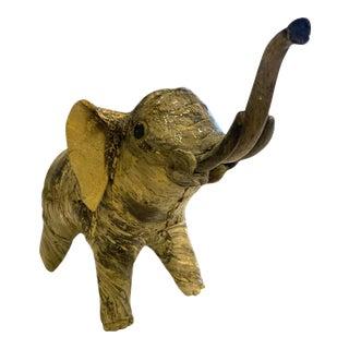 Vintage Elephant Paper Mache Sculpture For Sale