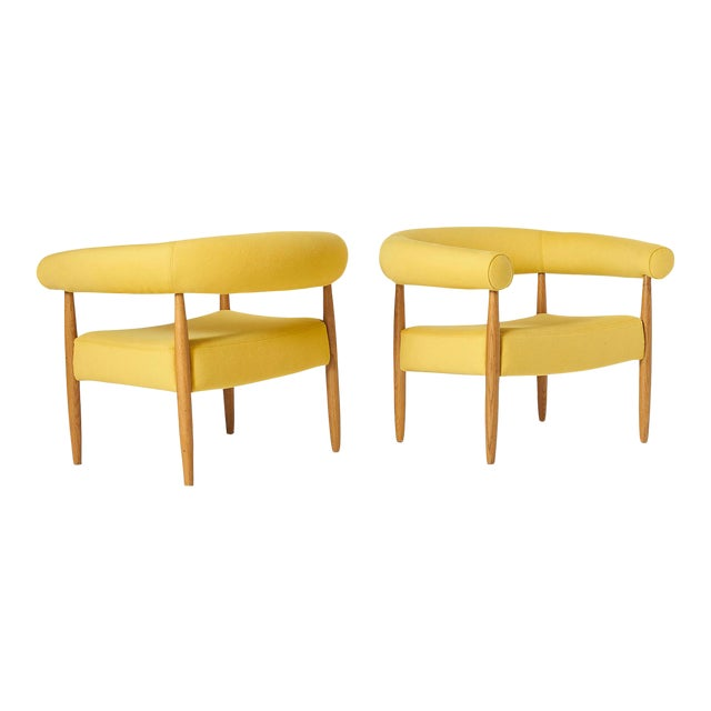 """Pair of """"Ring"""" Chairs by Nanna Ditzel For Sale"""