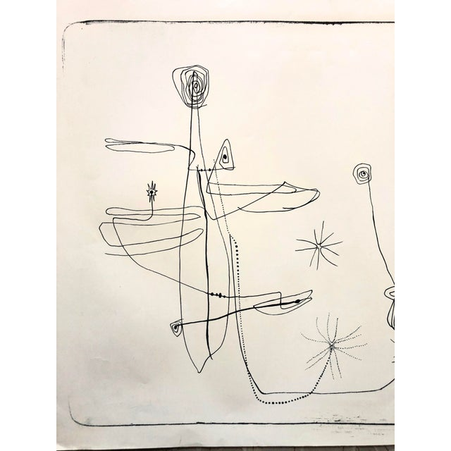 1950s Jerry Opper 1940-50s Abstract Line Print For Sale - Image 5 of 7