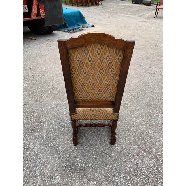 1900s French Louis XIII Style Solid Walnut Dining Chairs - Set of 6 For Sale - Image 12 of 13