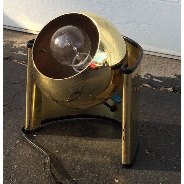 Mid-Century Golden Table Lamp - Image 3 of 7