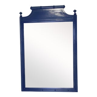 Vintage Henry Link Faux Bamboo Mirror For Sale