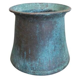 Turkish Handmade Copper Vase, Circa 1850 For Sale